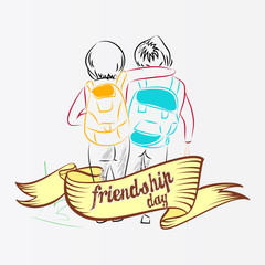nice and beautiful abstarct, banner or poster for Best Friend Forever or Friendship Day with nice and creative design illustration.