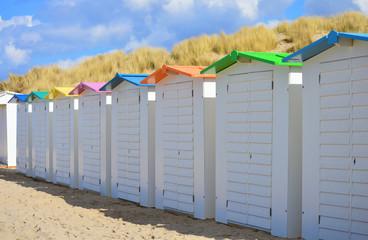 Row of beach huts