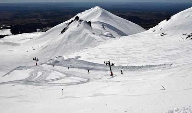 Super-Besse, station de ski, Auvergne, France