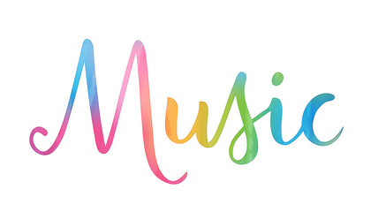 MUSIC hand lettering icon