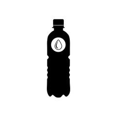 Black silhouette of a plastic bottle