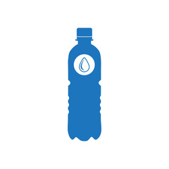 Blue silhouette of a plastic bottle