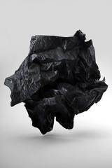 Coeur, papier noir de charbon