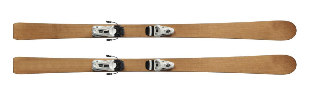 skis isolated on white