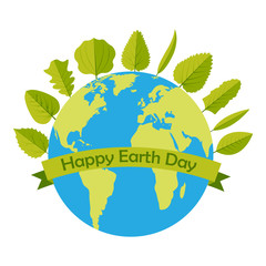 22 April Happy earth day vector design illustration