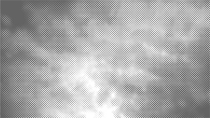 A halftone texture of clouds. Gray clouds. Vector illustration.