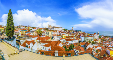 Wall Mural - View of Alfama District at Lisbon, Portugal