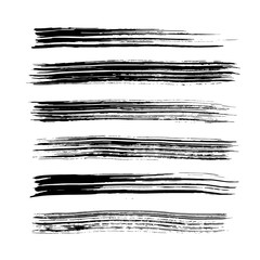 Brush stroke set. Texture.