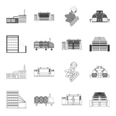 Machine, equipment, spinning, and other web icon in outline,monochrome style., Appliances, inventory, textiles icons in set collection.