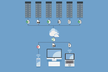Cloud Computing Hosting Concept