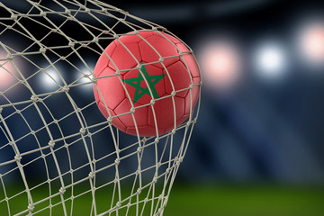 Moroccan soccerball in net