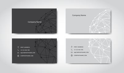 Set of engineering business card. Engineering drawings. vector illustration