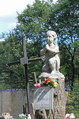 Statue of praying Child in the Bernardine Cemetery in Vilnius, Lithuania