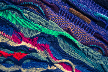 Abstract knitted background texture background