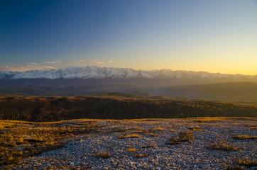 Alpine sunlight