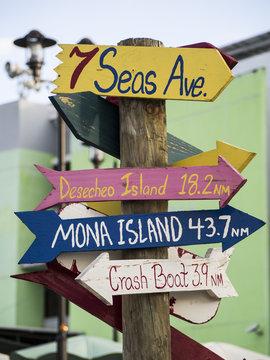 Aguadilla Puerto Rico Signpost