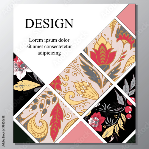 Stock Vector Art Brochure Template Layout Design Corporate