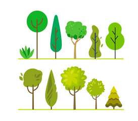 forest green trees