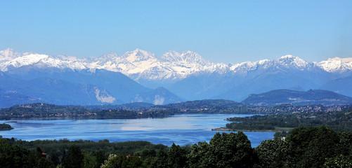 Varese Lake, Italy, Monte Rosa Mountain