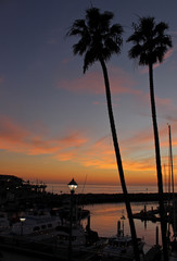 Dusk at King Harbor, Redondo Beach, California
