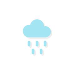 Cloud with rain icon. Vector illustration, flat design