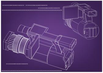 Camera on purple