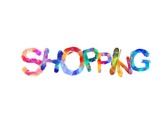 Shopping. Word of triangular letters