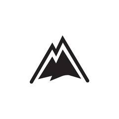 Snowy Mountains logo Icon on white background