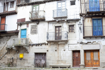 Viviendas antiguas en Mogarraz