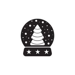 snow globe ball new year chrismas icon