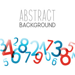 Abstract background with color numbers