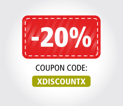20 Discount Coupon Vector