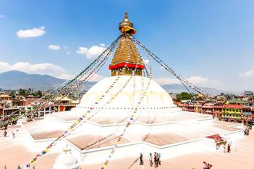 Wall Murals Nepal Boudhanath Stupa in Kathmandu, Nepal