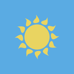 sun vector icon for app and website