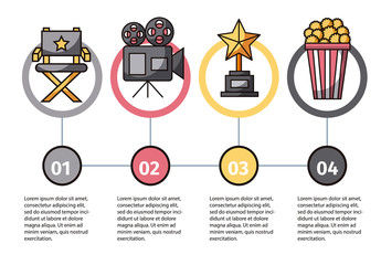 Movie-Themed Infographic with Illustrations