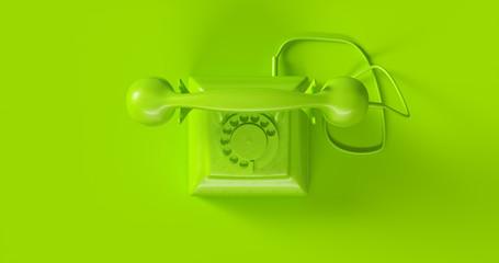 Green Telephone 3d illustration
