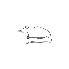 rat icon. Element of rodents icon. Premium quality graphic design icon. Baby Signs, outline symbols collection icon for websites, web design, mobile on white background