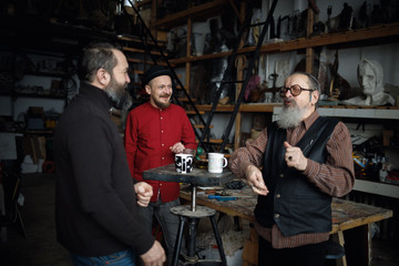 Artists in the workshop