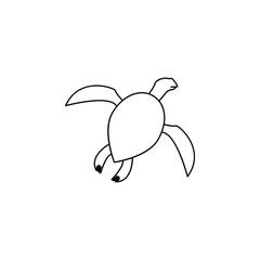 sea turtle icon.Element of popular sea animals icon. Premium quality graphic design. Signs, symbols collection icon for websites, web design, on white background