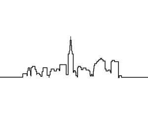 Cityscape one line