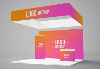 Exhibition Booth Mockup : Exhibition booth mockup buy this stock template and explore