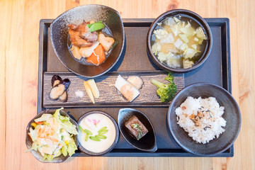 clsoe of japanese food