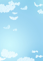 White clouds on blue clear sky. Beautiful background for design.