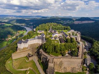 Königstadt, sächsische Schweiz, Festung Königstein Fototapete