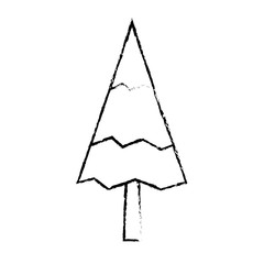 pine tree natural forest concept vector illustration sketch