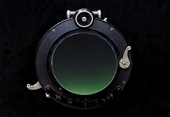 aurora borealis in the lens