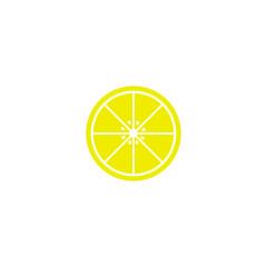 Half of lemon icon.