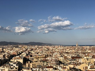 View of Barcelona from Basilica de Sagrada Familia view point