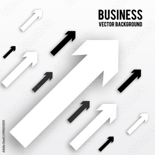 Black and white arrows with shadow isolated on white background black and white arrows with shadow isolated on white background business concept paper effect friedricerecipe Image collections
