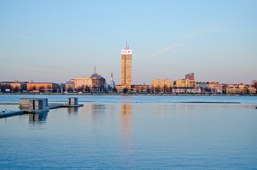 Panoramic view of Riga city, the capital of Latvia